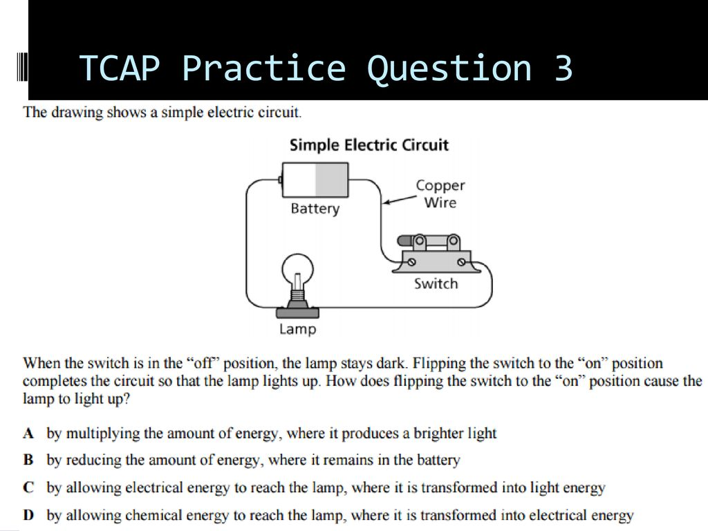 Simple Circuits Explained Ppt Download Electric Circuit With Switch Battery And Lamp A Series 35 Tcap Practice Question 3