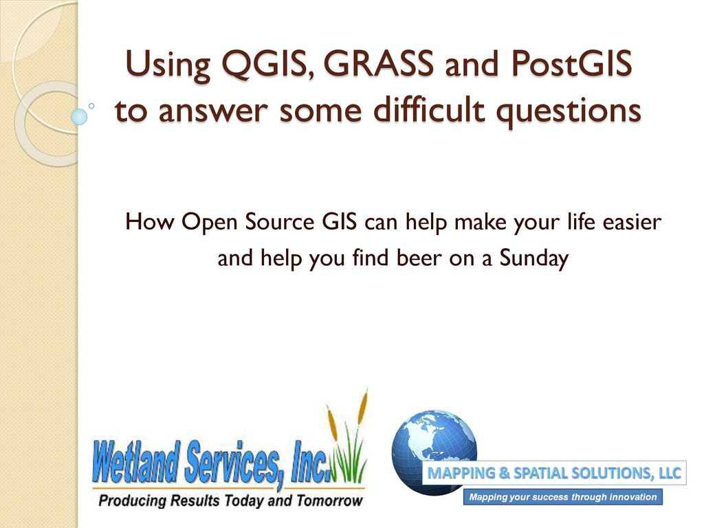 Using QGIS, GRASS and PostGIS to answer some difficult