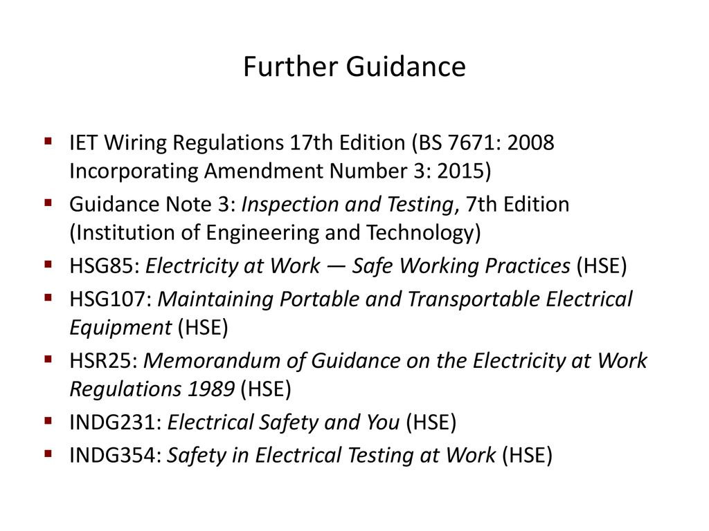Electrical Safety Training Presentation Ppt Download Iet Wiring Regulations 17th Edition Amendment 1 Further Guidance Bs 7671 2008 Incorporating Number 3