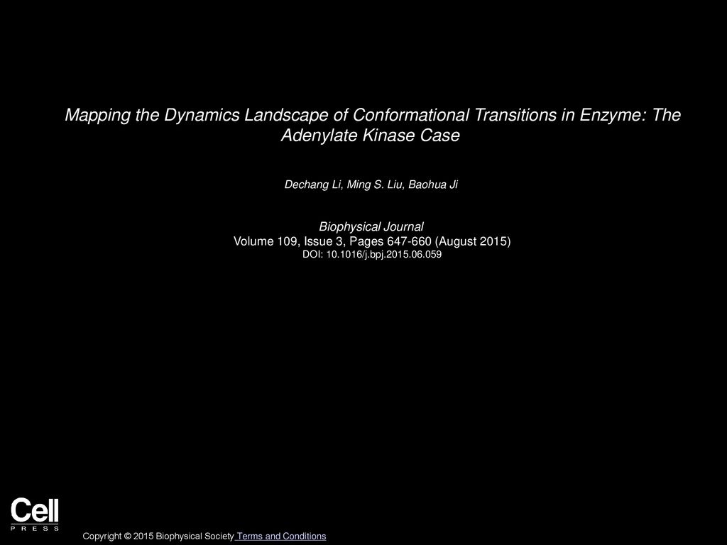 Dechang Li Ming S Liu Baohua Ji Biophysical Journal Ppt