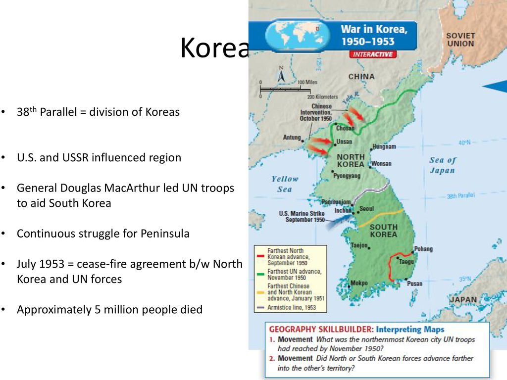 Cold War In East And Se Asia Ppt Download - 38th-parallel-us-map