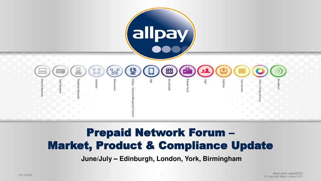 Citi Prepaid Limited Brands >> Prepaid Network Forum Market Product Compliance Update