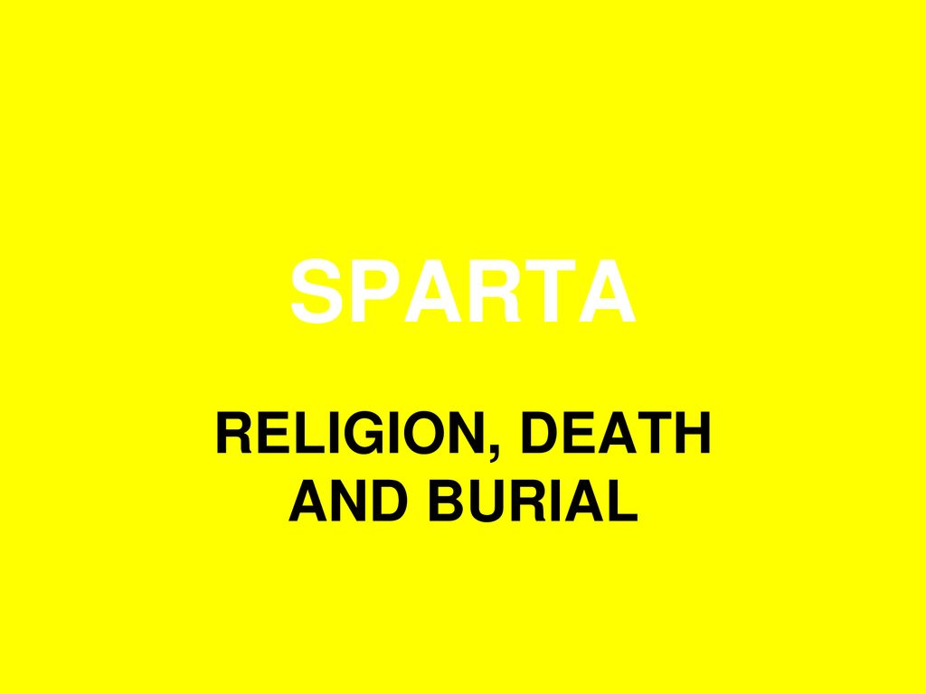 sparta religion
