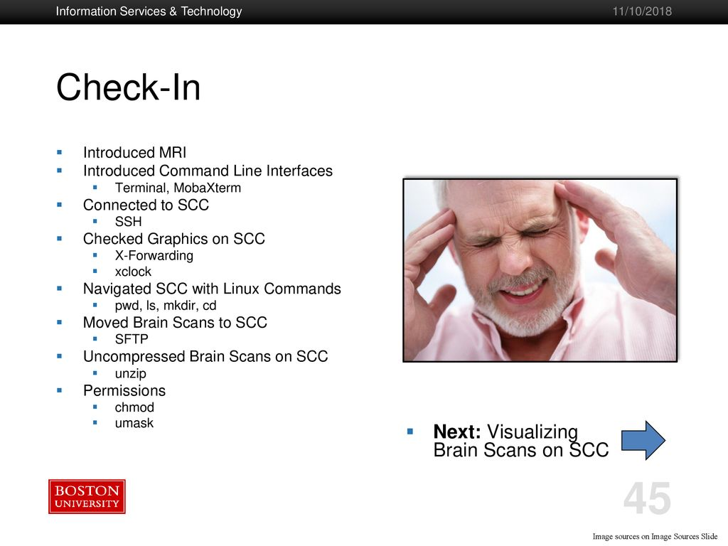 Neuroimaging on the Shared Computing Cluster (SCC) - ppt