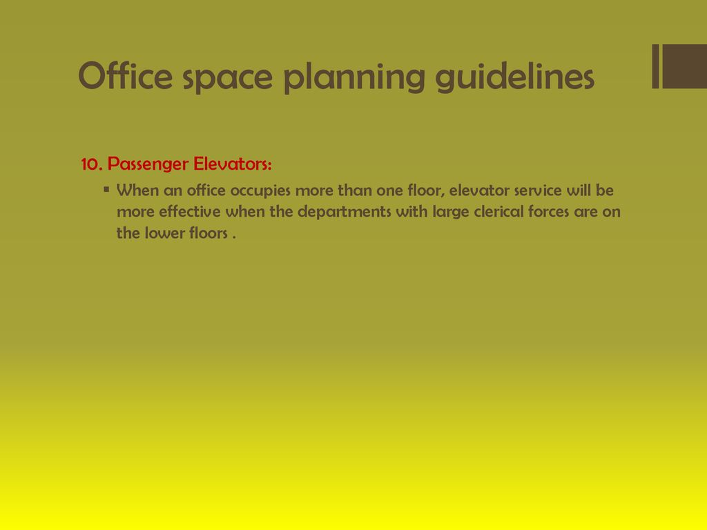 Office Space Planning Guidelines