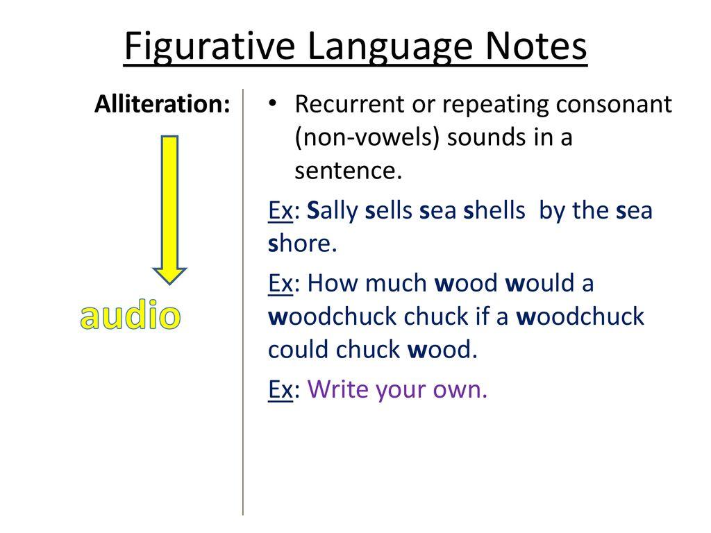 Figurative Language Notes Ppt Download