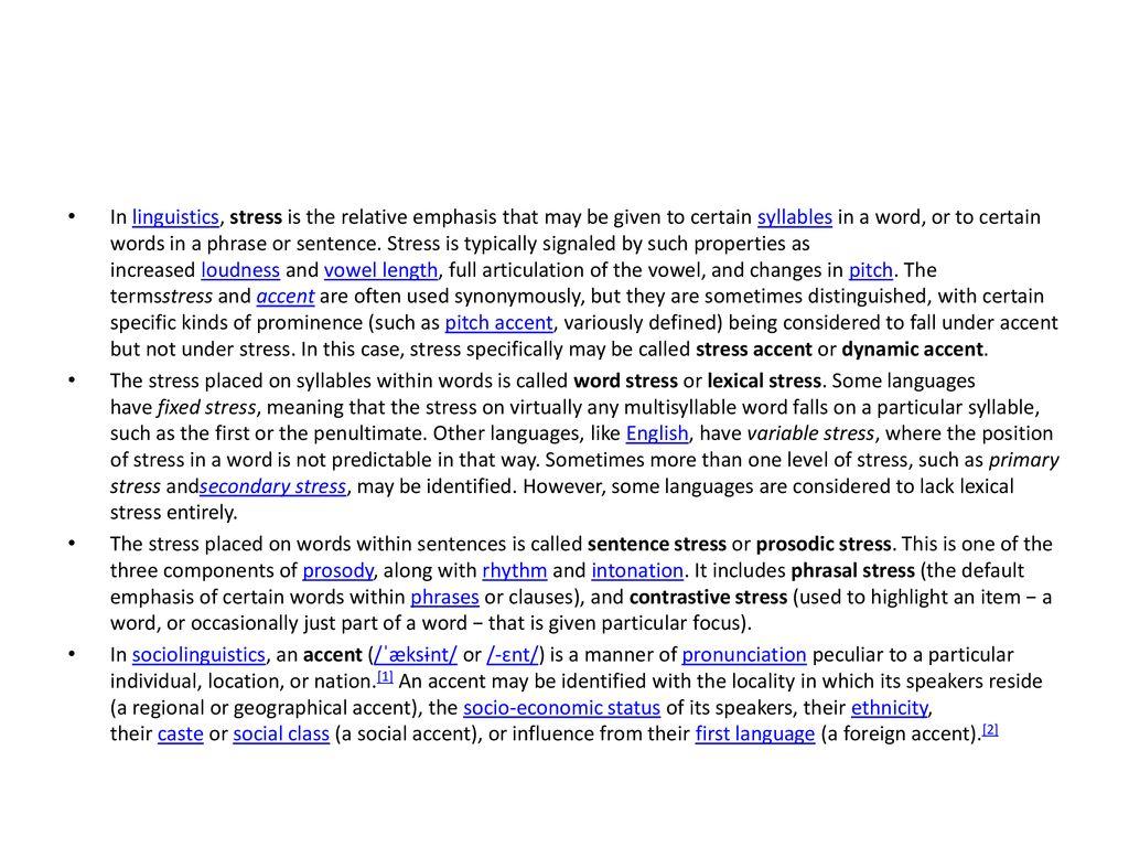 Phonetics, Pronunciation, Stress and Accent - ppt download