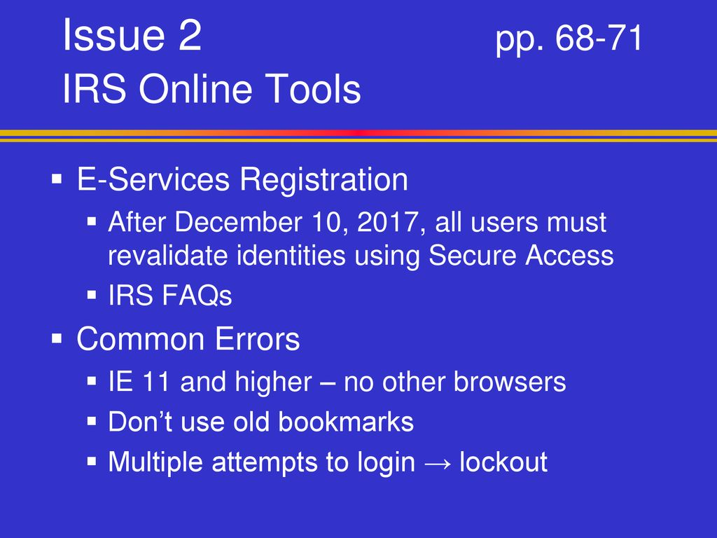 Irs Secure Access
