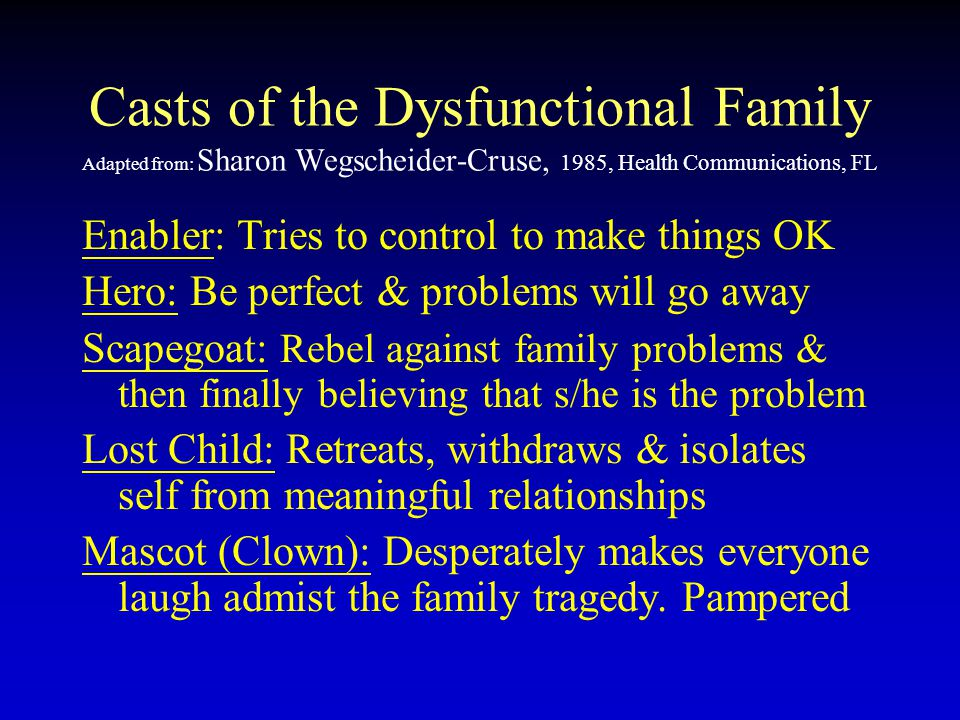 the lost child dysfunctional family