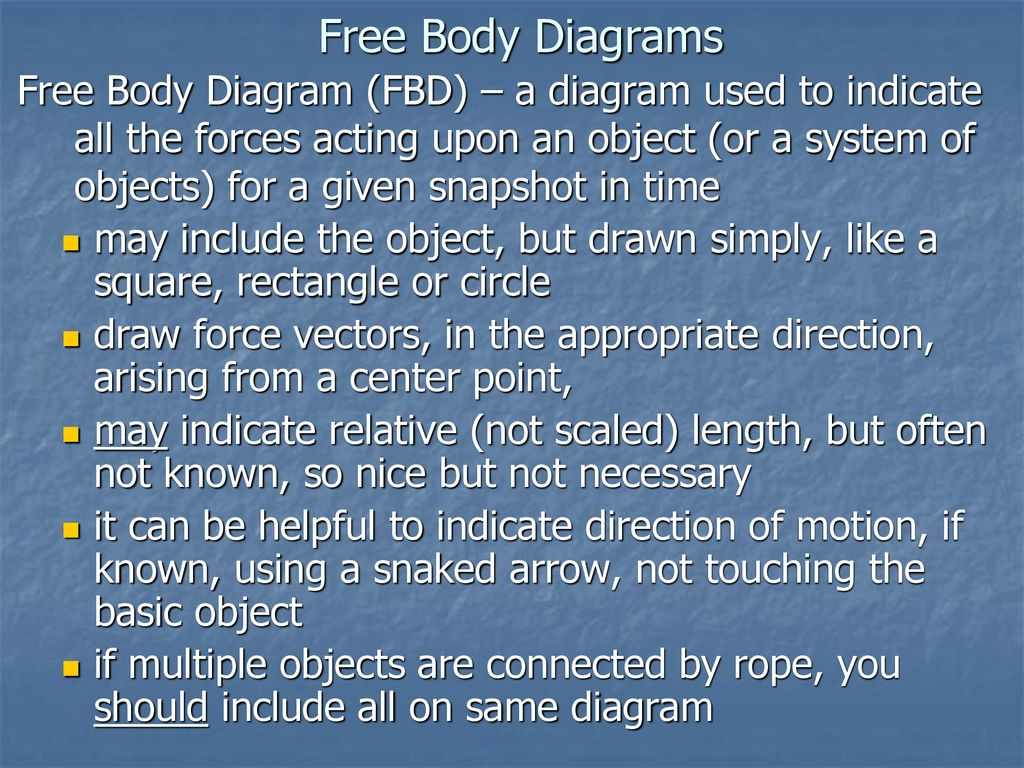 Mechanics Kinematics How Things Move Vs Dynamics Why Drawing Force Diagrams 39 Free Body