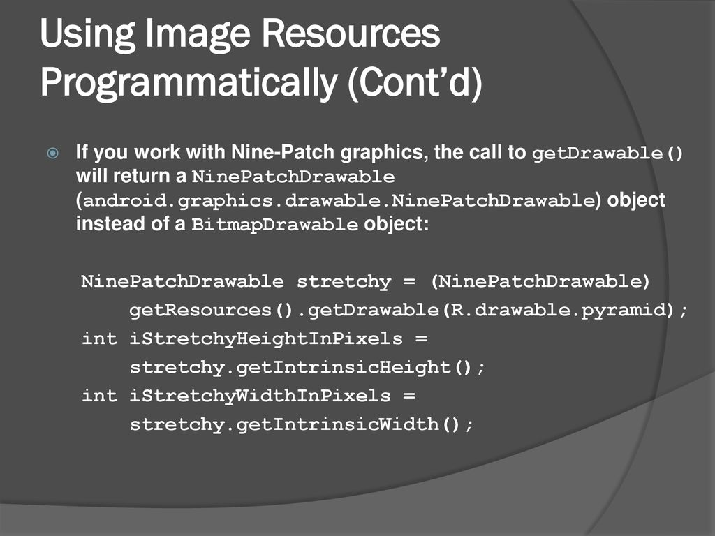 Mobile Computing With Android ACST 4550 Android Resources - ppt download