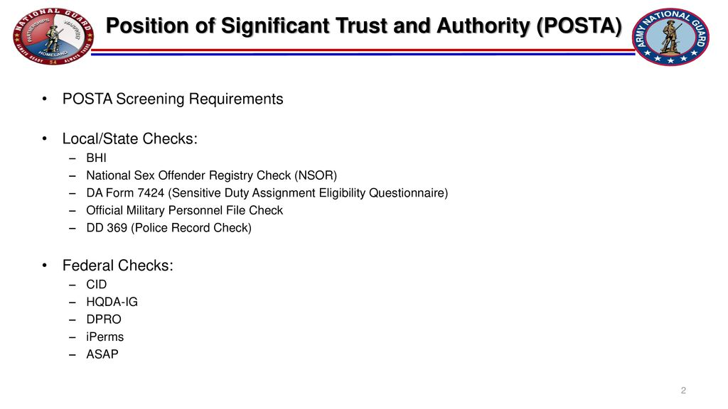 Position Of Significant Trust And Authority Posta Ppt Download