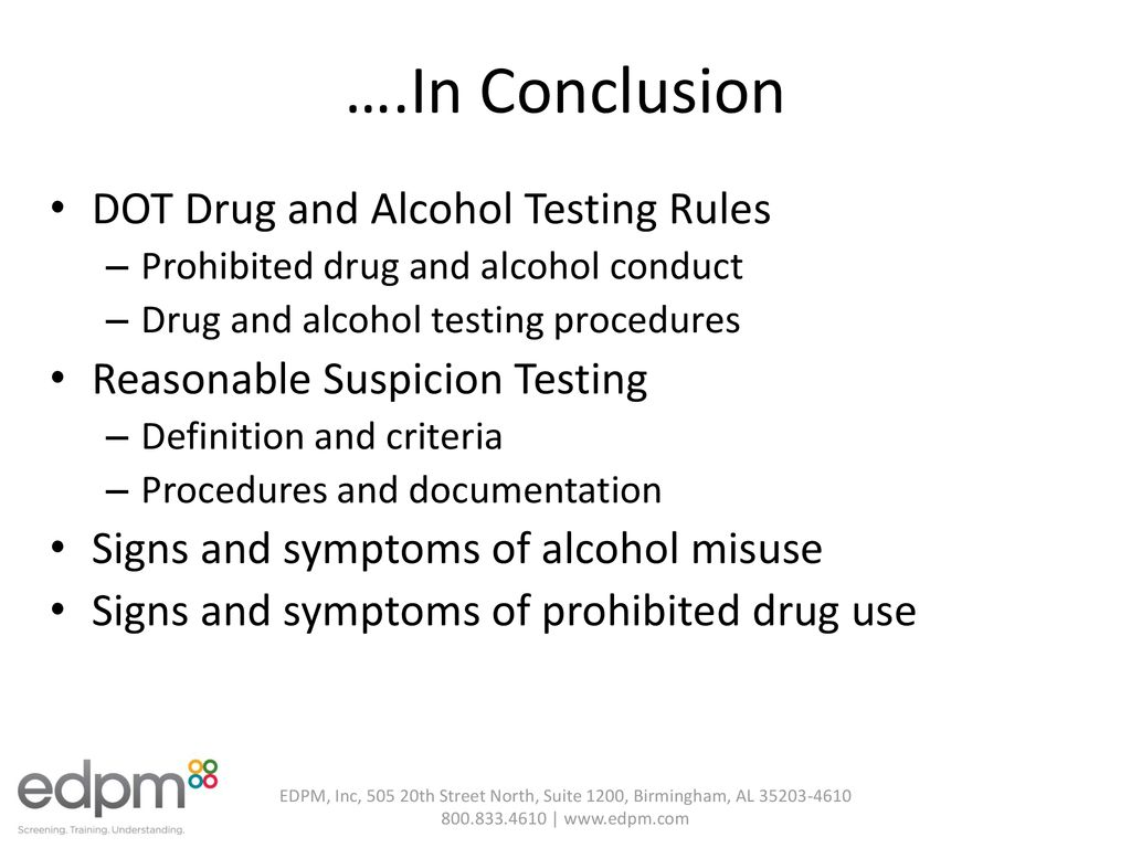 dot-mandated drug and alcohol testing - ppt download