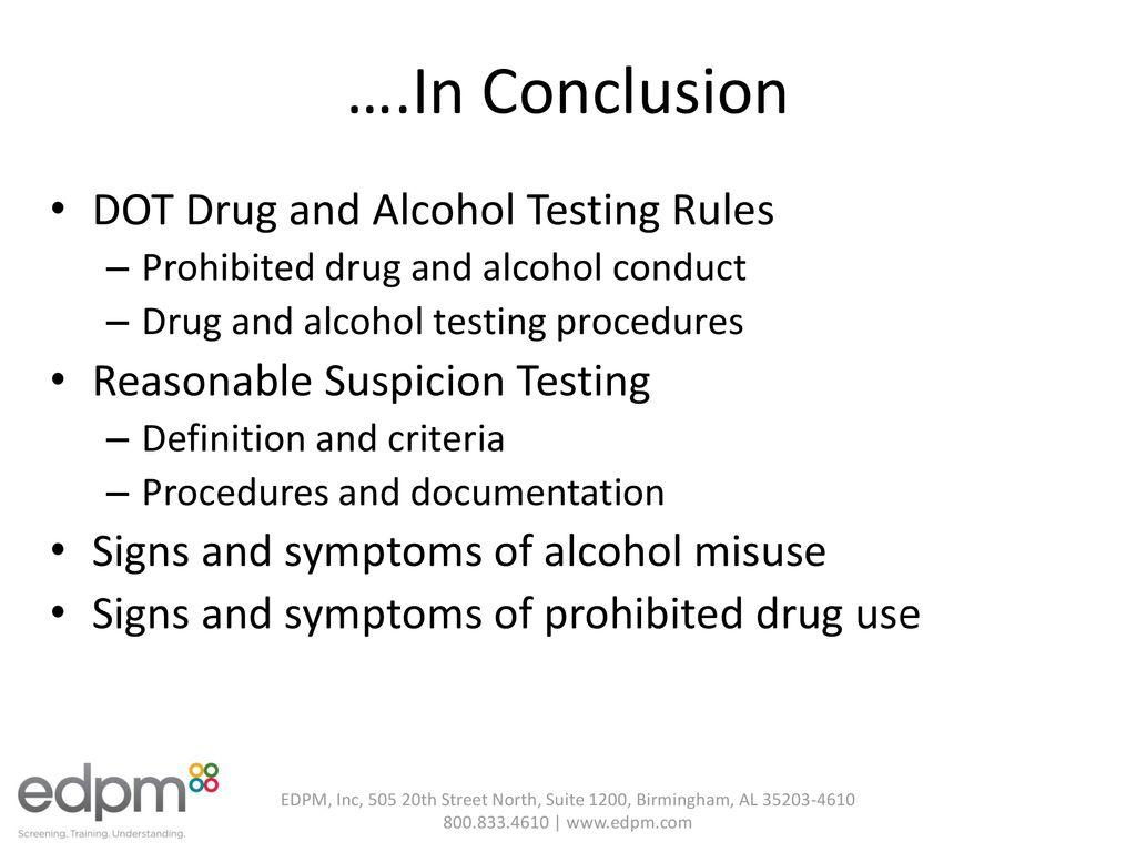dot-mandated drug and alcohol testing - ppt download