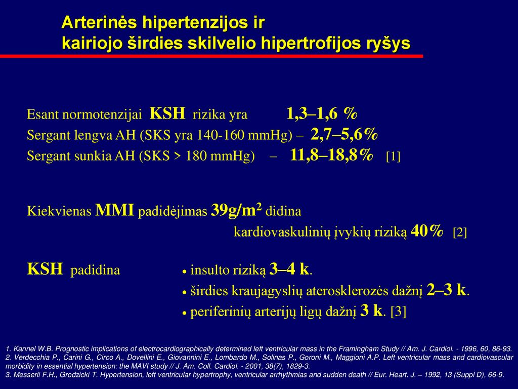 yra hipertenzija, bet pulsas yra mažas