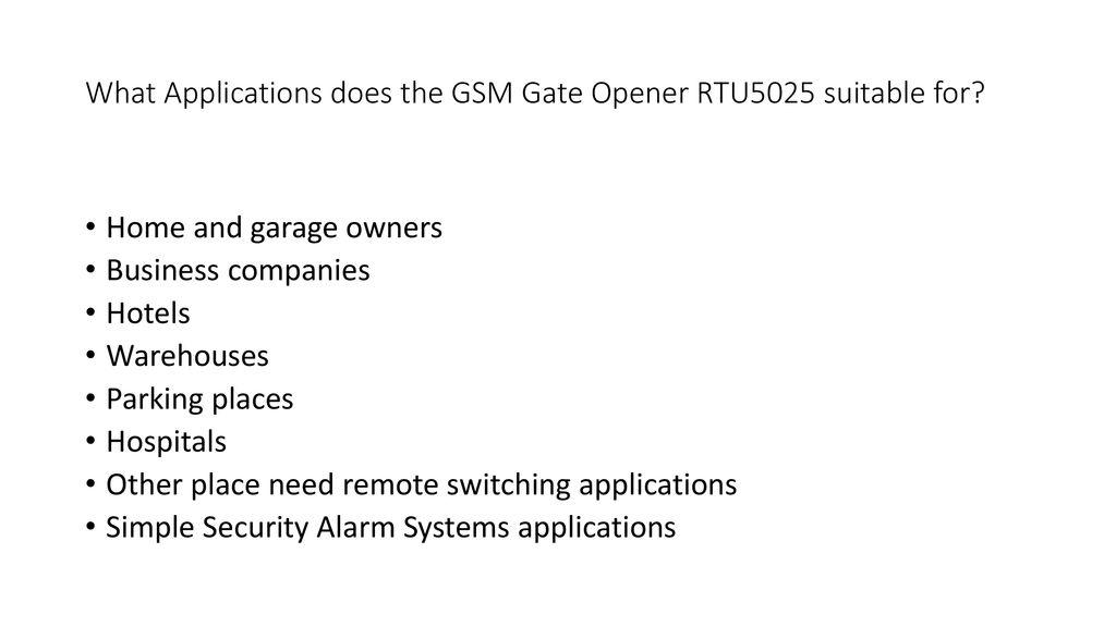 GSM door opener Model RTU5015 RTU5025  Different appearance