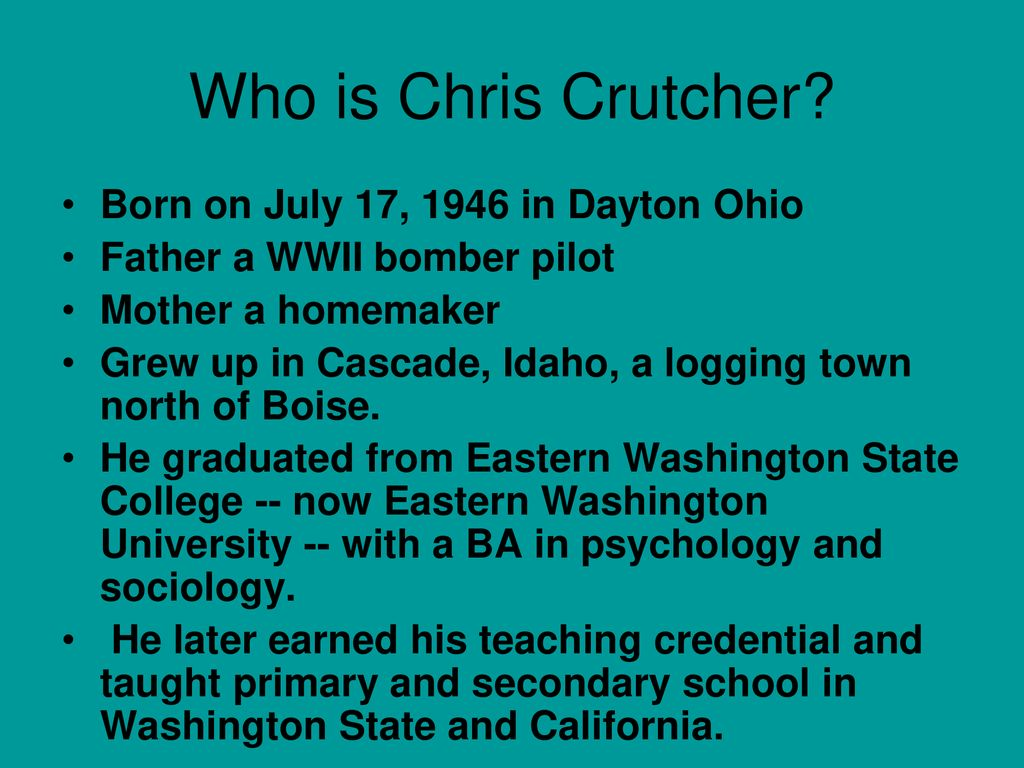 chris crutcher biography