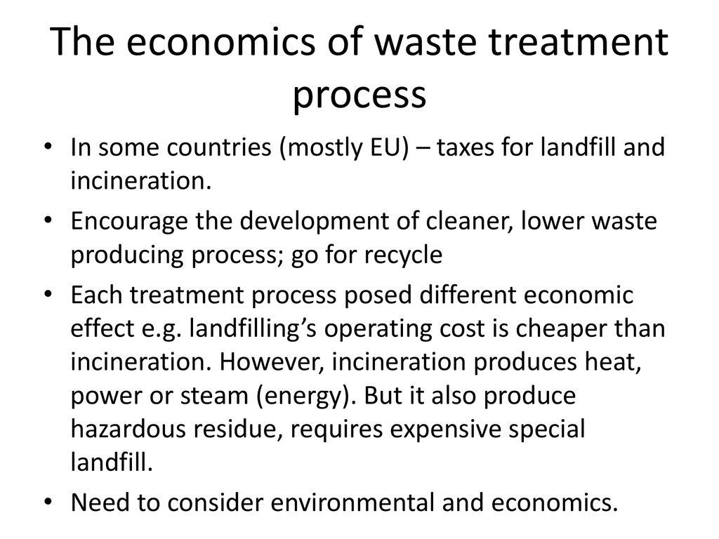 the economics of waste