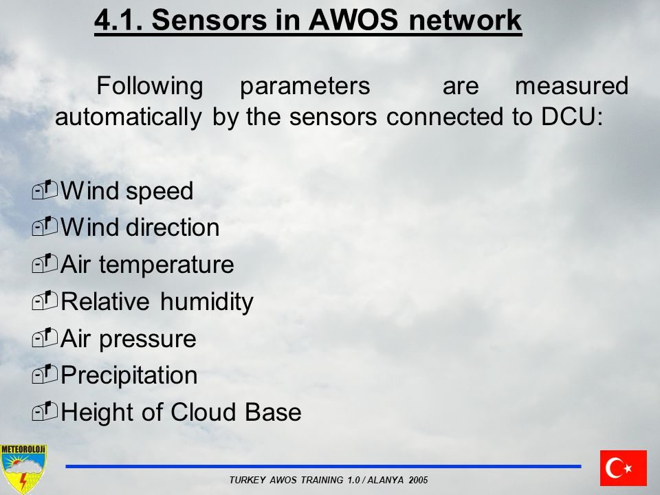 4.1. Sensors in AWOS network