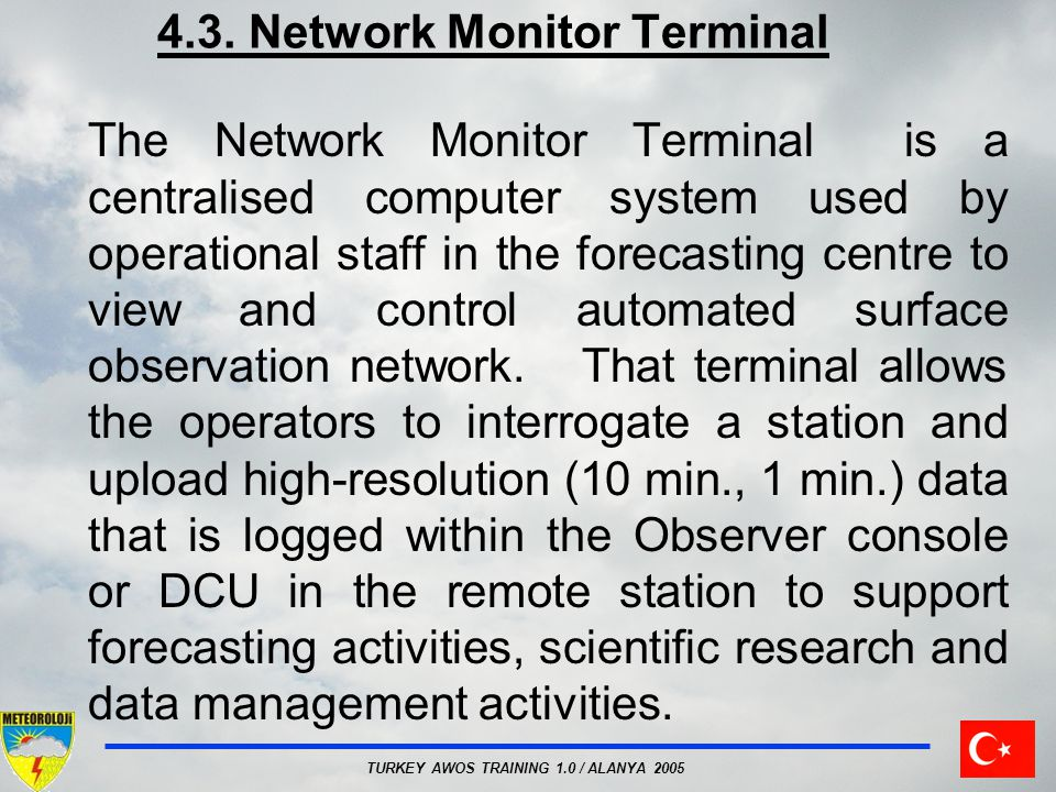 4.3. Network Monitor Terminal