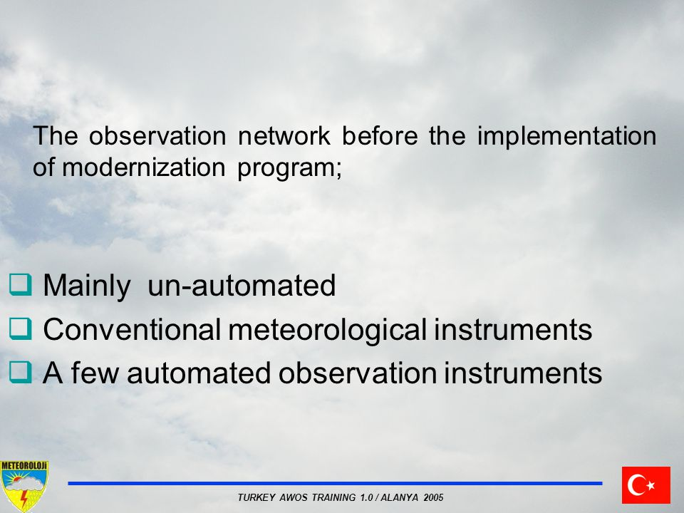 Conventional meteorological instruments