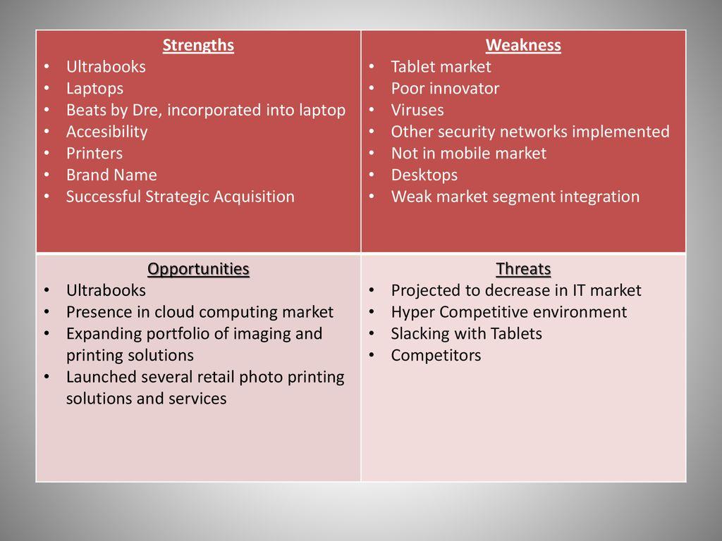 market segmentation of hp
