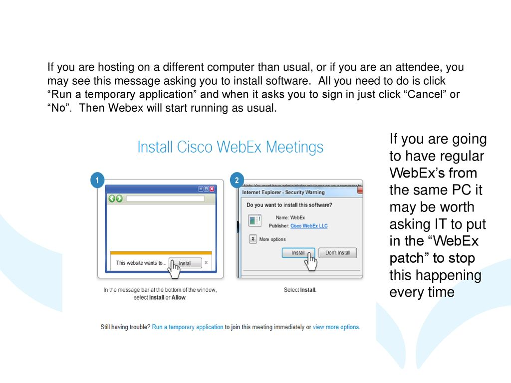 Presenting a Webex session - ppt download