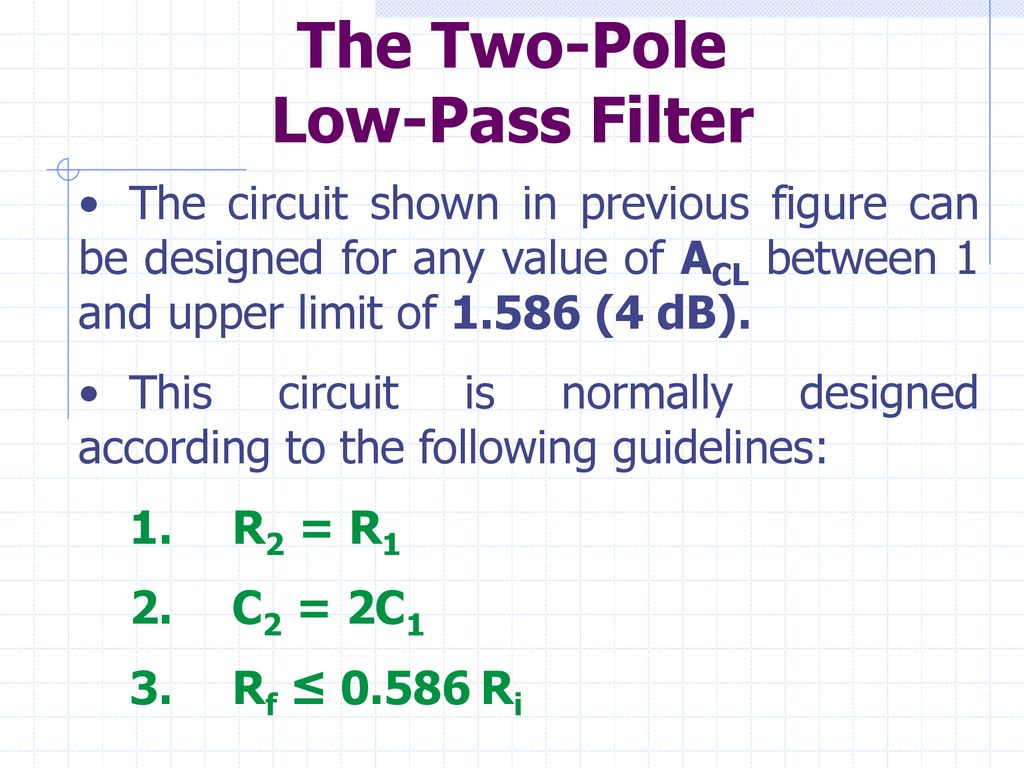 Digital Control Systems Waseem Gulsher Ppt Download Order Low Pass Filter Circuit Is Shown In The Figure This Two Pole