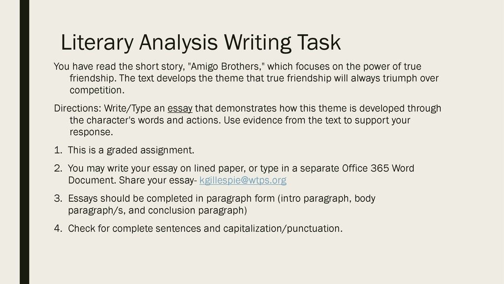 Literary Analysis Definition - ppt download