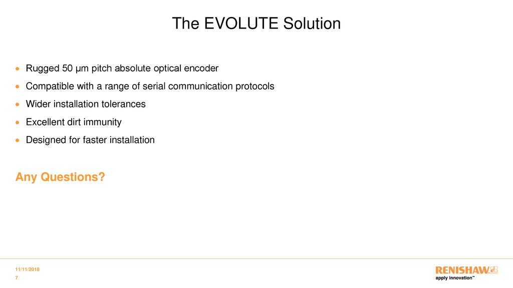 Introducing EVOLUTE™ series encoders - ppt download
