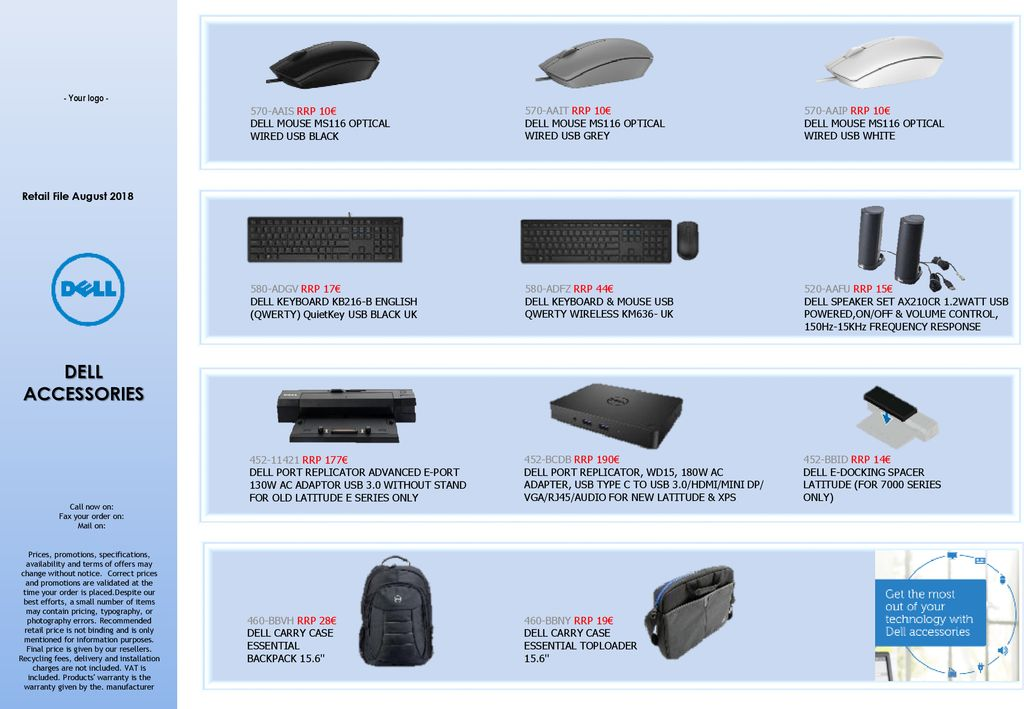 DELL ACCESSORIES 570-AAIS RRP 10€ - ppt download
