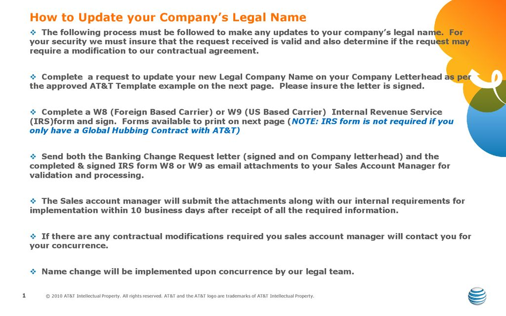 How to Update your Company's Legal Name - ppt download