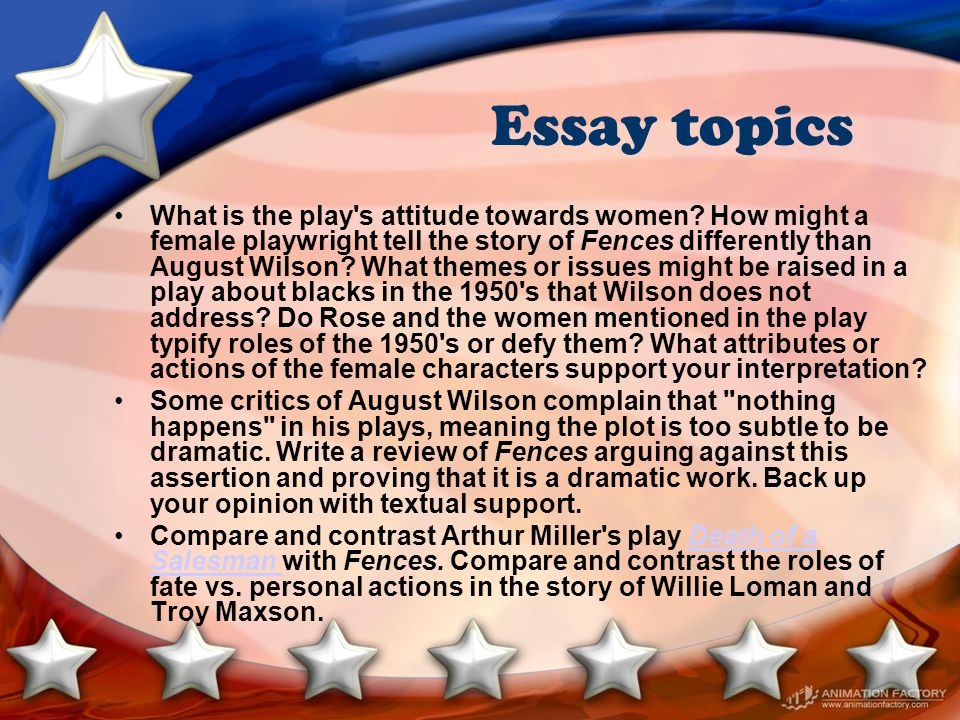 Health Education Essay Essay Topics Science Essays also Yellow Wallpaper Analysis Essay Fences August Wilson  Ppt Video Online Download The Yellow Wallpaper Essay