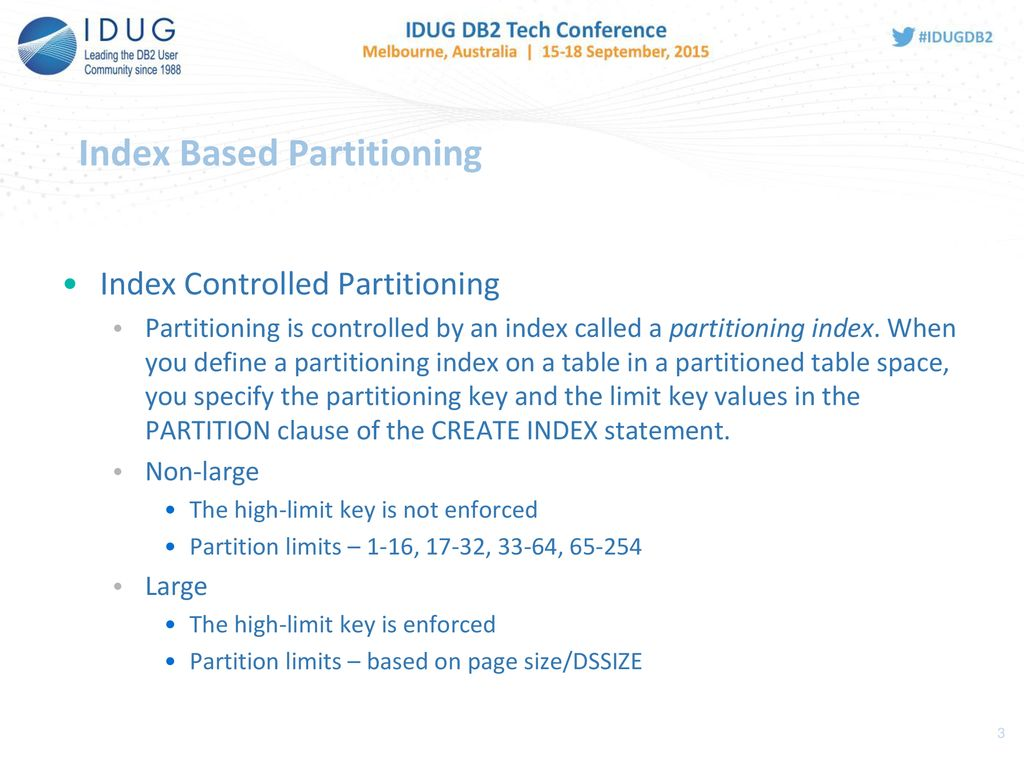 DB2 Partitioning Choices, choices, choices - ppt download