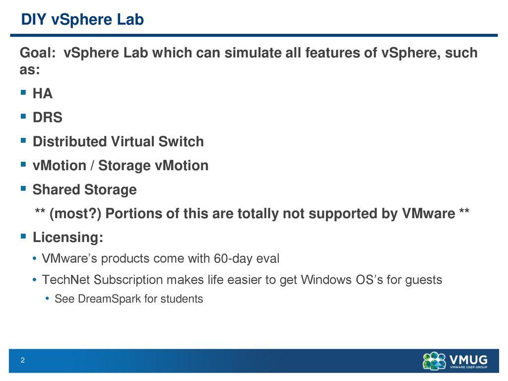 """Geek Out"""": DIY vSphere 5 1 Lab - ppt download"""