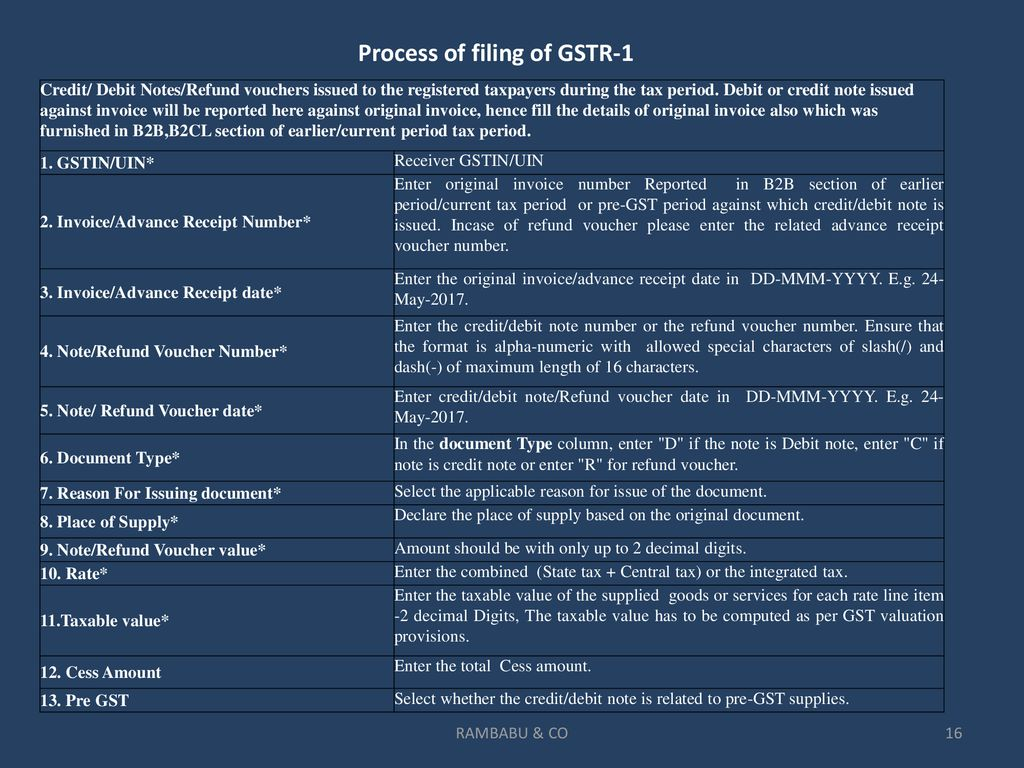 Return Filing Under Gst Ppt Download