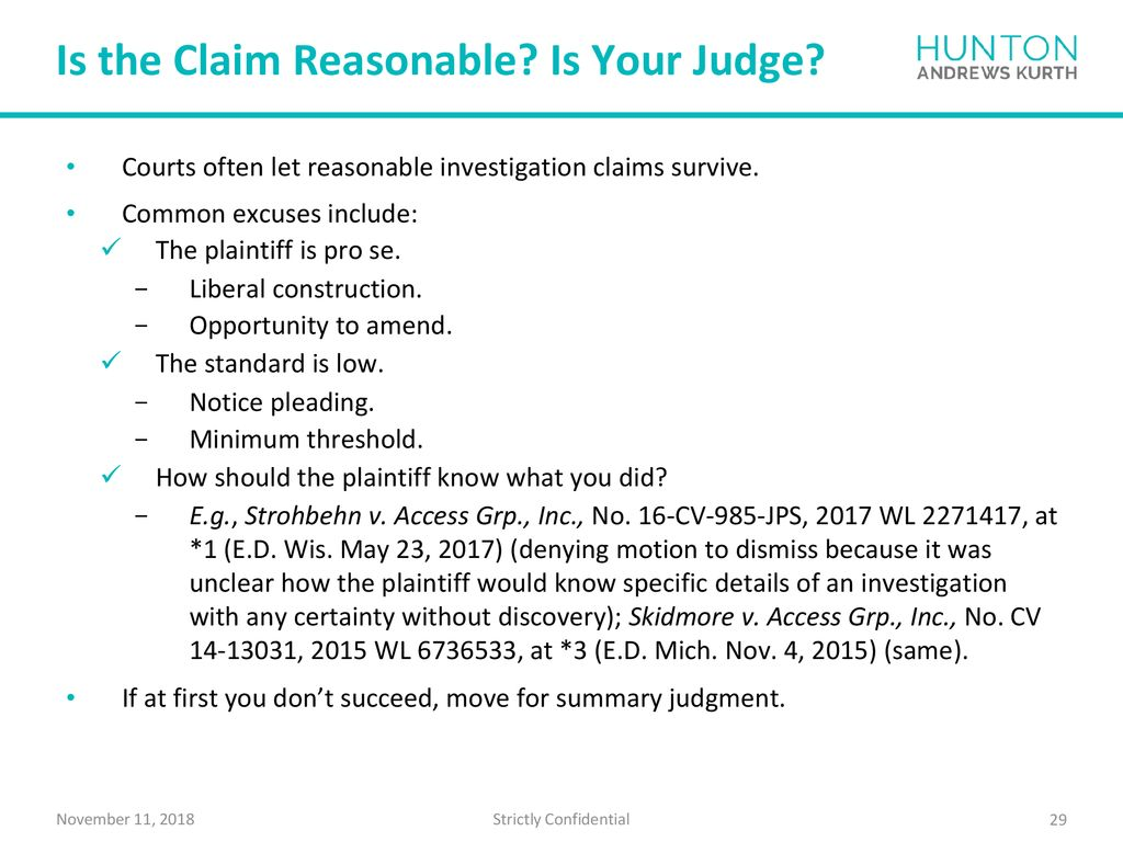 Fair Credit Reporting Act Litigation - ppt download