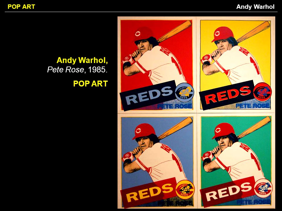 Andy Warhol Andy Warhol, Pete Rose, POP ART