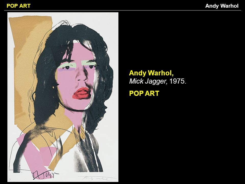 Andy Warhol, Mick Jagger, POP ART