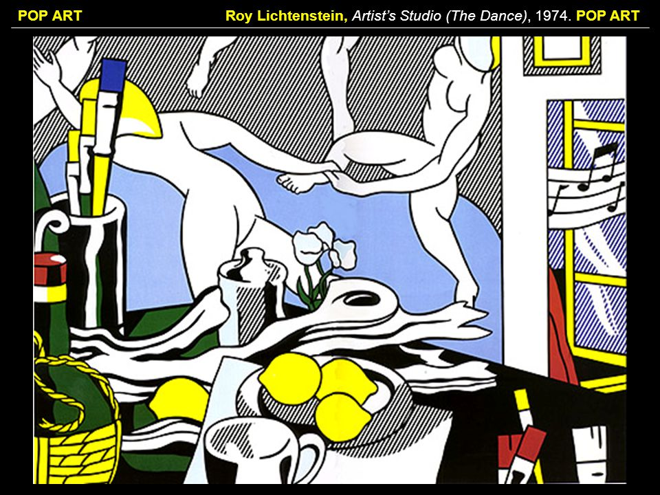 Roy Lichtenstein, Artist's Studio (The Dance), POP ART