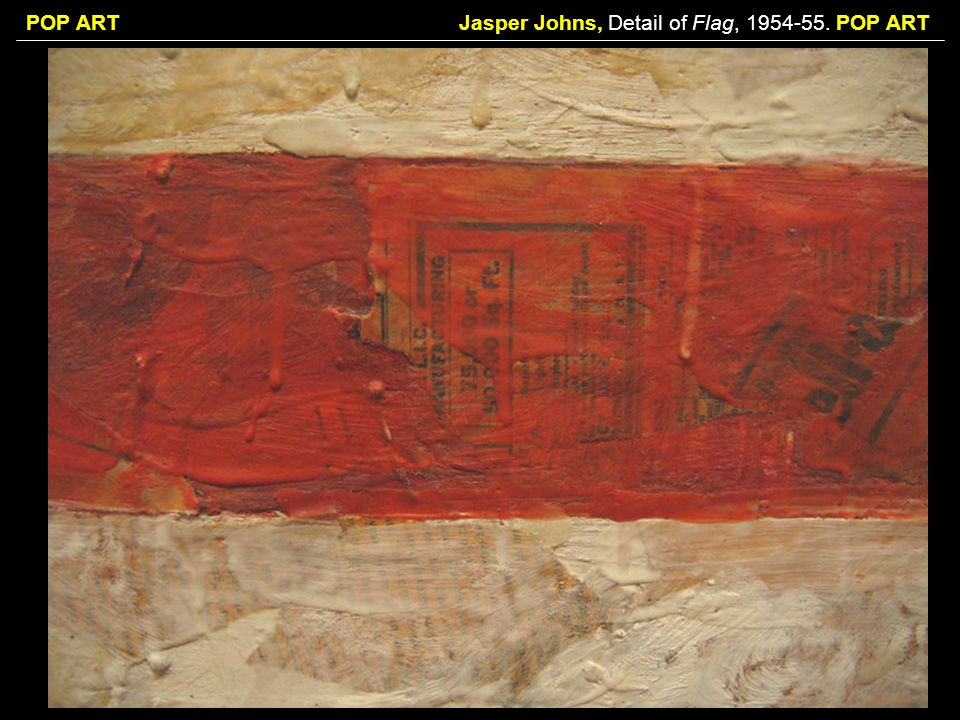 Jasper Johns, Detail of Flag, POP ART