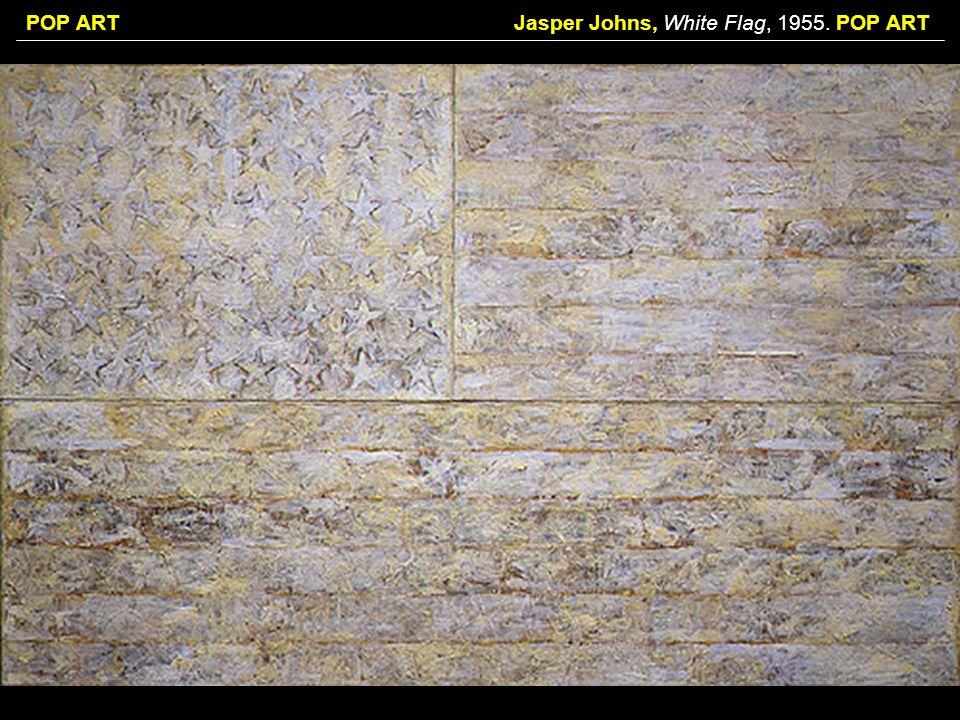 Jasper Johns, White Flag, POP ART