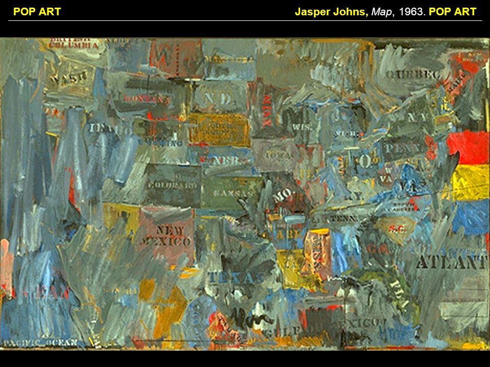 Jasper Johns, Map, POP ART