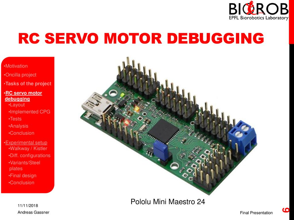 Hardware Development On Quadruped Robots Final Presentation Ppt Servo Motor Test Circuit Rc Debugging