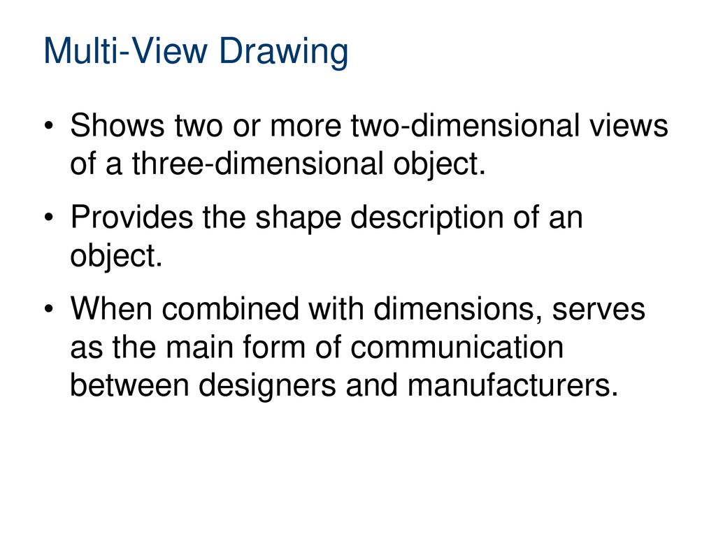 Multi-View Sketching Introduction to Engineering Design. Unit 2 Technical Sketching and Drawing. Multi-View Drawing.