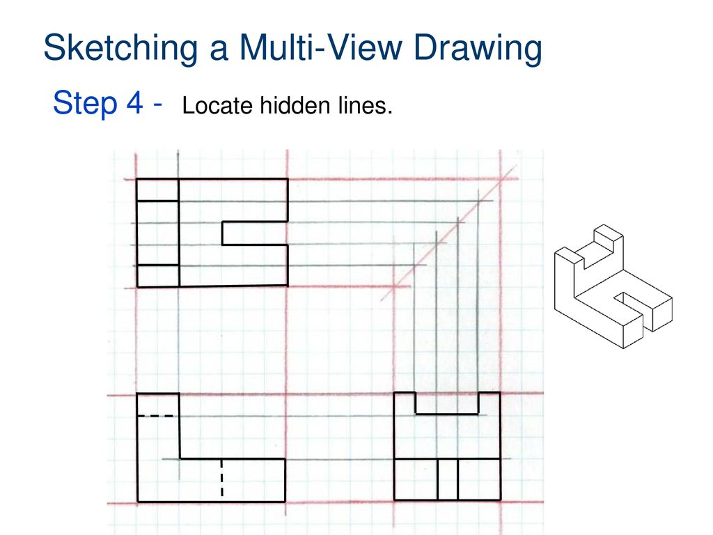 Sketching a Multi-View Drawing