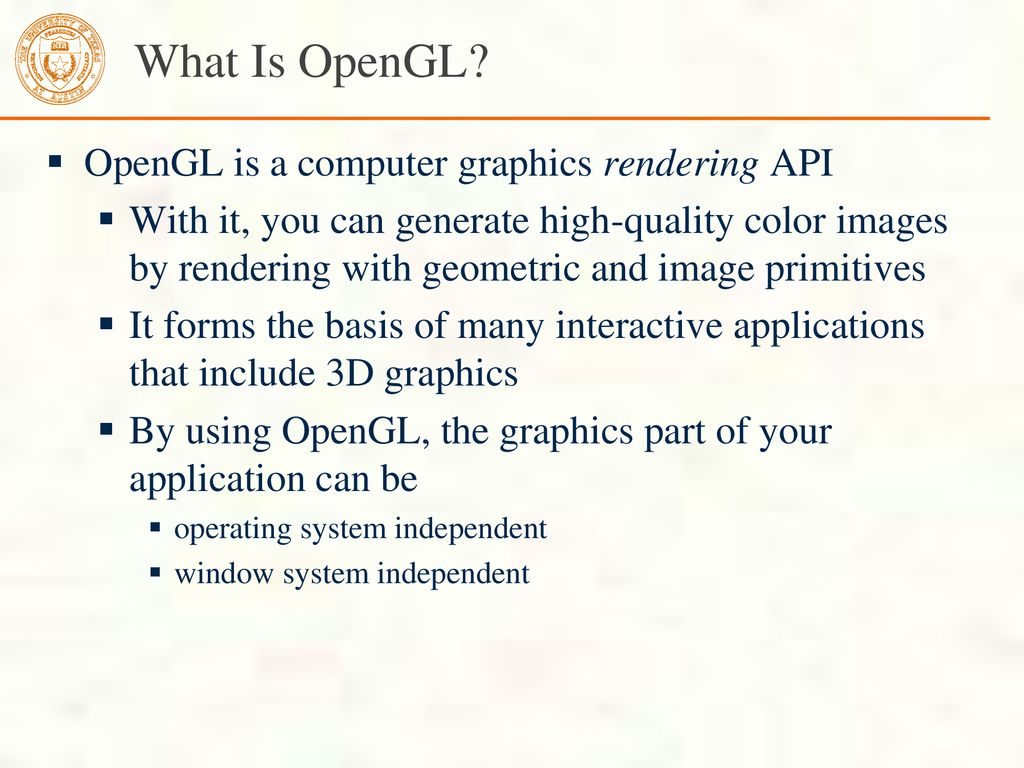 Introduction to Modern OpenGL Programming - ppt download