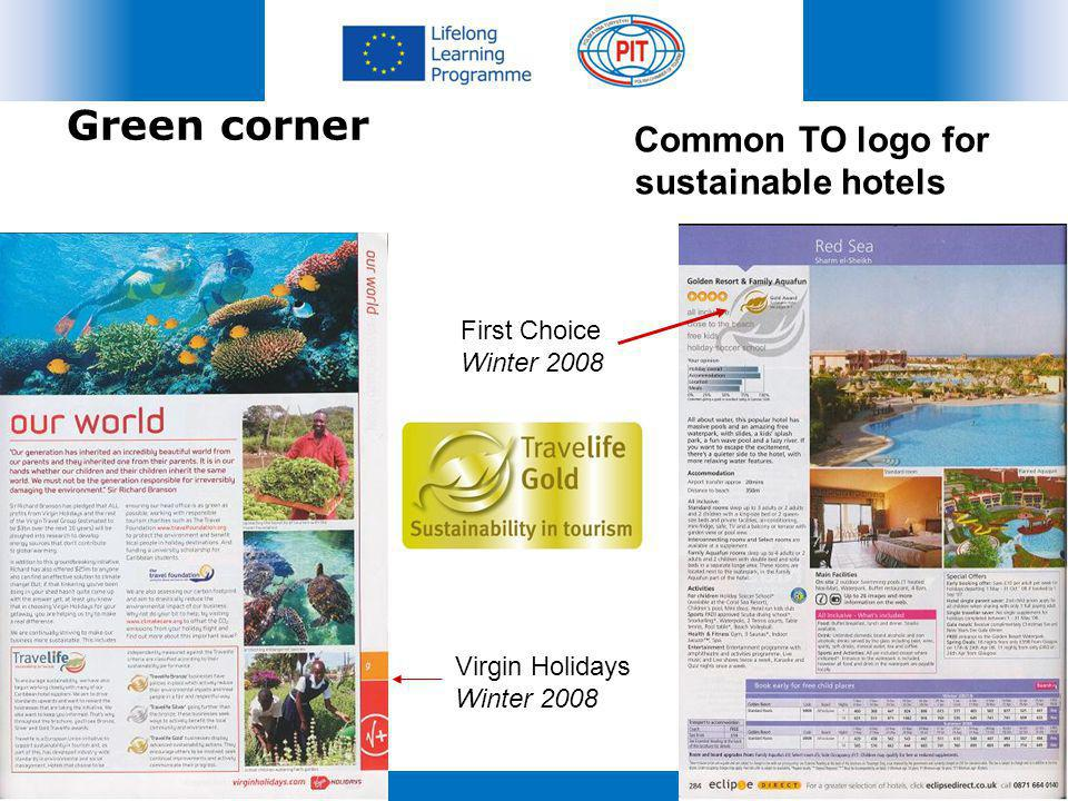 Green corner Common TO logo for sustainable hotels First Choice