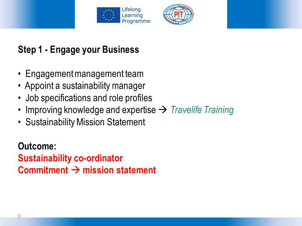 Step 1 - Engage your Business