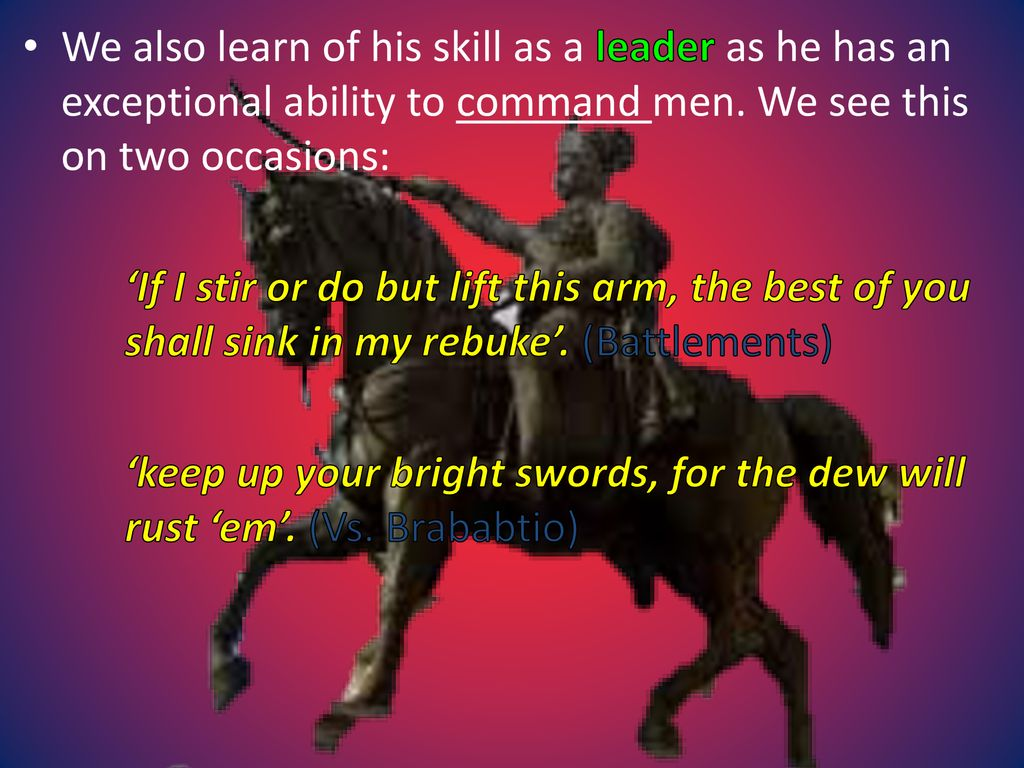 keep up your bright swords